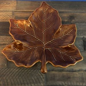 Pottery Barn leaf plate